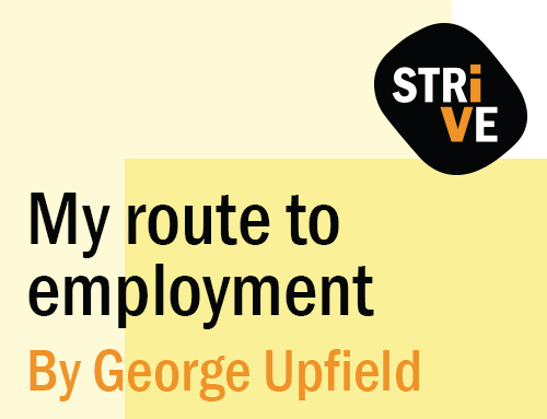 My route to employment by George Upfield