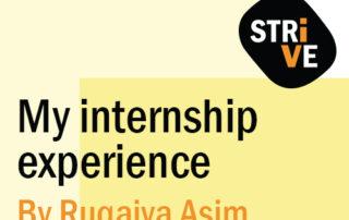 My internship experience By Ruqaiya Asim