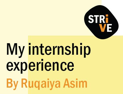 STRiVE: My Internship Experience